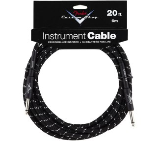 Fender - Custom Shop Performance Cable 6m, Black Tweed