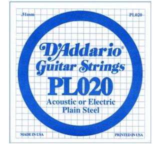 D'Addario - PL020, Single plain steel string
