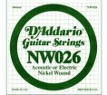 D'Addario - NW026, Single Nickel Wound string
