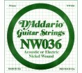 D'Addario - NW036, Single Nickel Wound string