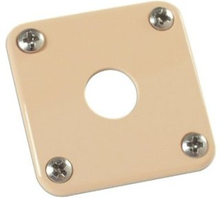 Gibson - PRJP-030, Jack Plate, Creme Plastic