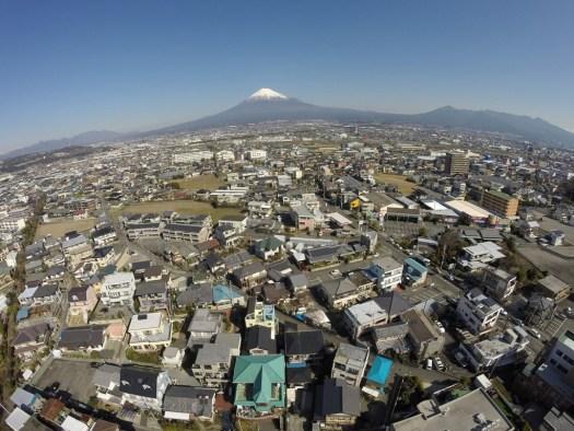 北に富士山