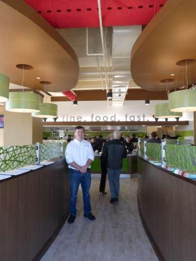 Craig Mason in Fresh to Order restaurant, Knoxville, TN
