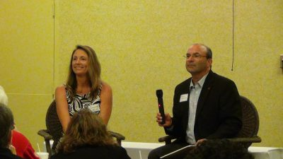 Solange Velas and Steve Goldman at Knoxville Real Estate Investors meeting