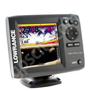 Lowrance Elite5x HDI Fishfinder with 83 200 kHz and 455