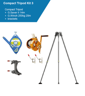 Globestock Tripod Kit GSE230 G.Saver II G Winch Personnel Confined Space