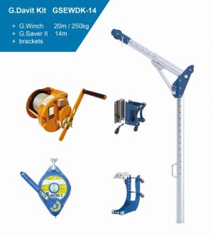 Globestock G.Davit Kit 3 G.Saver,G.Winch & Brackets Model GSEWDK