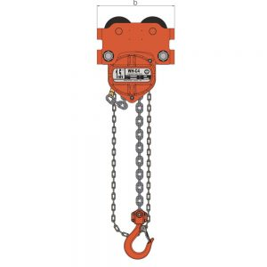 William Hackett ATEX Combined Chain Block & Push Trolley – Extended Beam Range