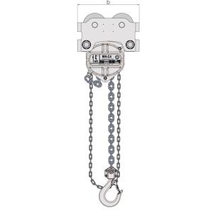 William Hackett Corrosion Combined Chain Block & Push Trolley – Extended