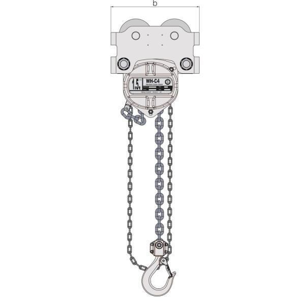 William Hackett Corrosion Combined Chain Block & Push Trolley – Standard Beam Range