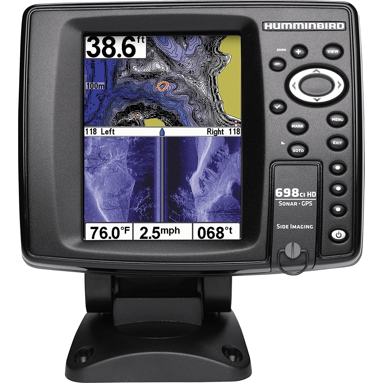 Humminbird 409470-1 600 698ci HD SI Internal GPS Sonar Combo Fishfinder with Side Imaging (Black)