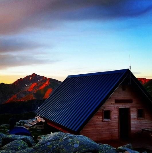 refuge petra piana coucher soleil gr20