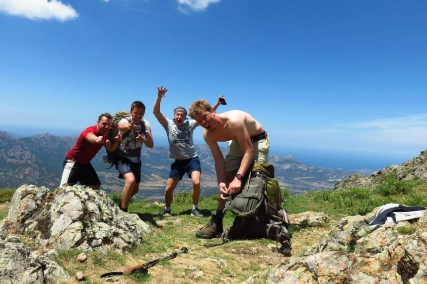 Aled Smith from Brecon Beacons - Wales - GR20 July 15 On top of Corsican mountains