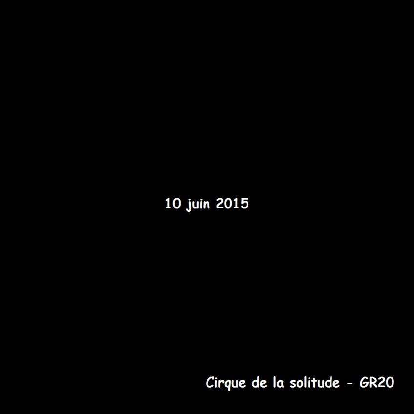Cirque de la solitude - GR20 - 10 juin 2015