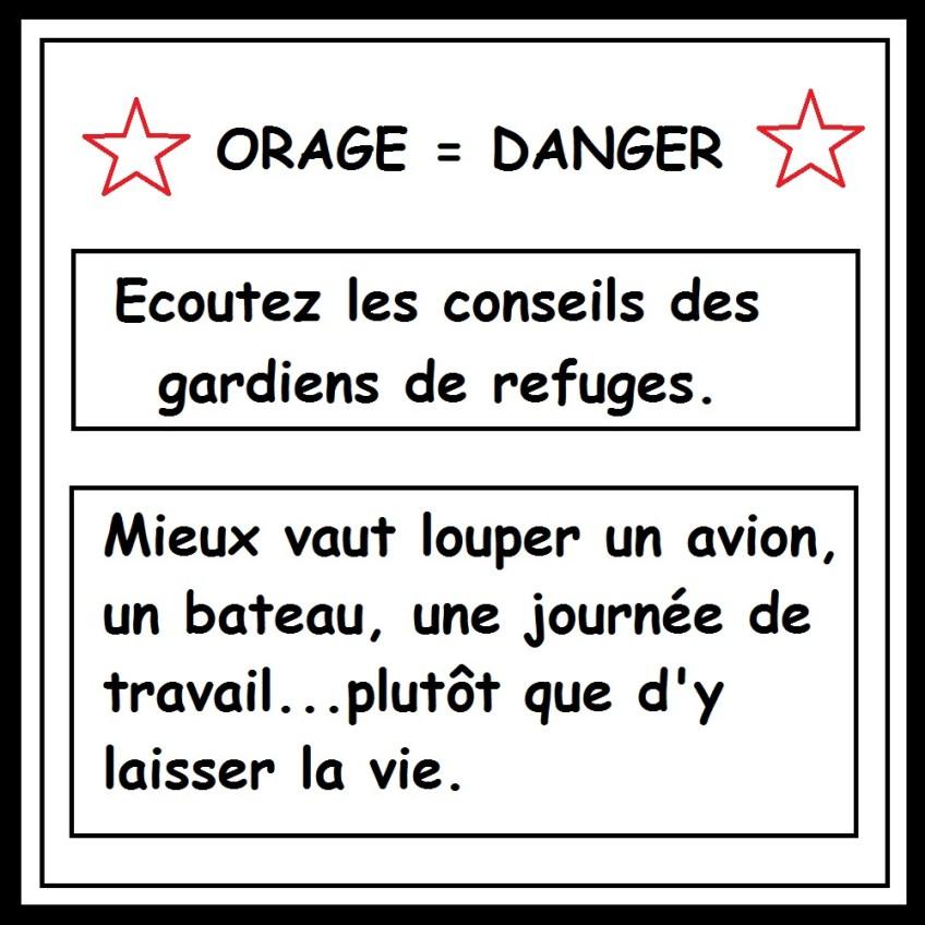 orage danger Corse GR20