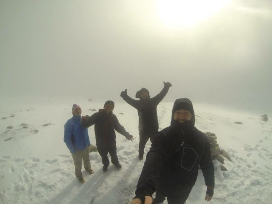 Jonathan Raguin et ses amis sur le GR20 en hiver