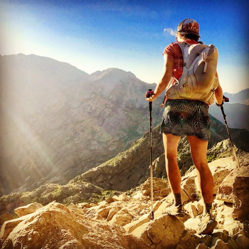 Libby Sauter's partner hiking