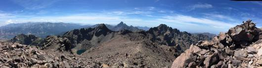 GR20 mountains summits in Corsica