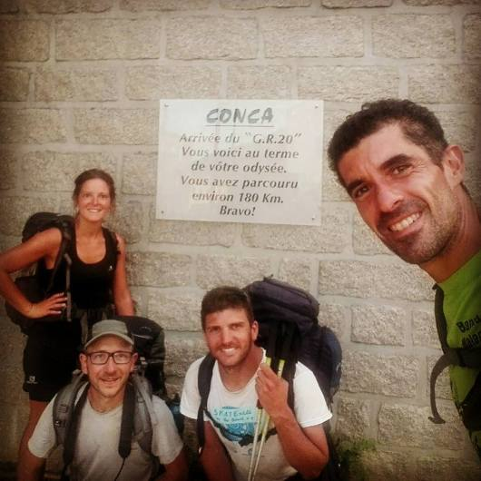 Marco's Team - GR20 Finisher at Conca