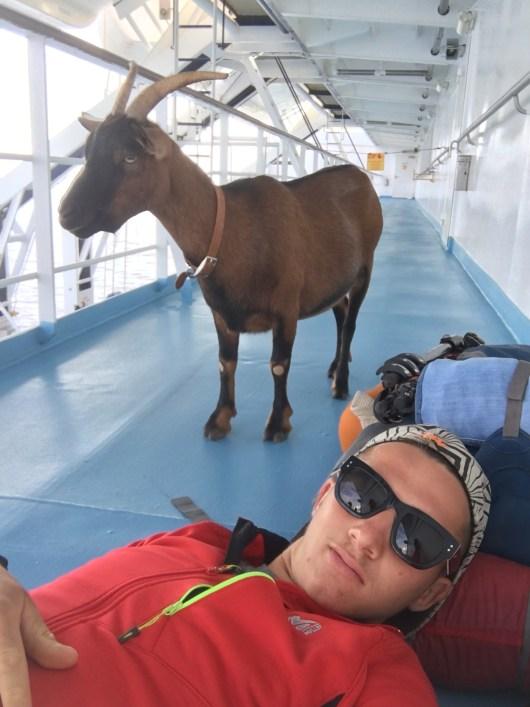 Sur le bateau : direction la Corse