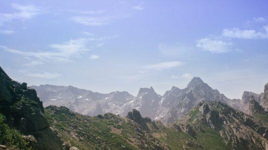 Summit corsican mountains