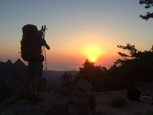 Observer le coucher du soleil - GR20