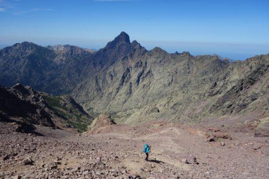 O GR20 através da montanha da Córsega