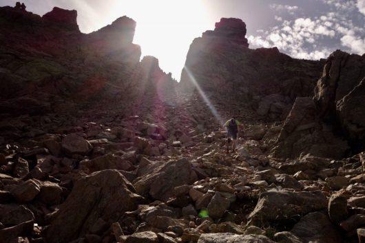 schwieriger Weg - viele Felsen