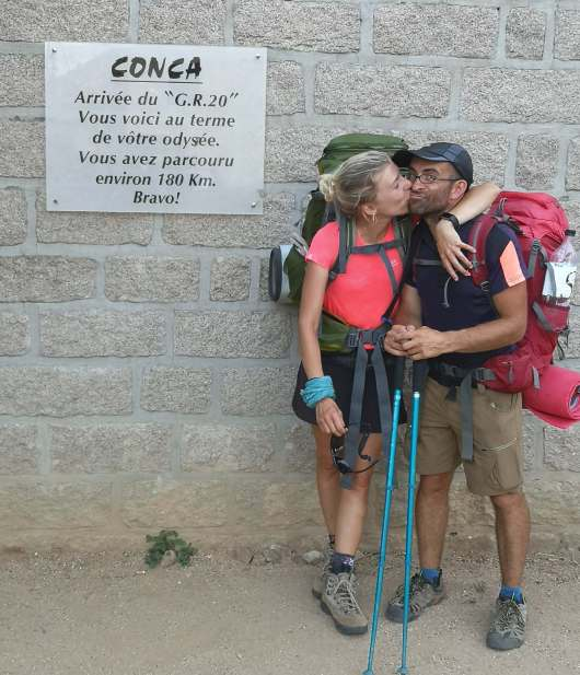 Fien and Tim - Happiness and Love at Conca - GR20 southern arrival