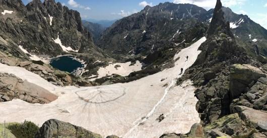 Lac de Capitello vue du drone