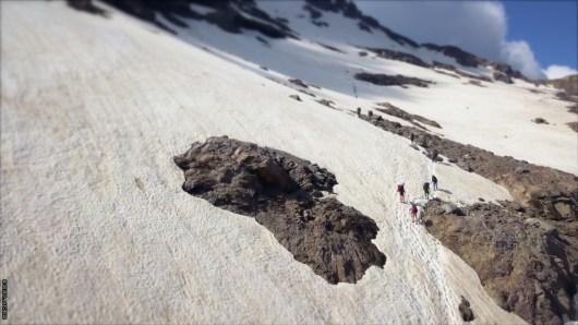 Pointe des Eboulis enneigée