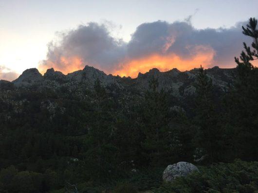 coucher du soleil - montgne corse - flo