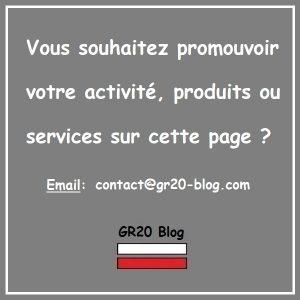 Devenez partenaire de GR20 Blog