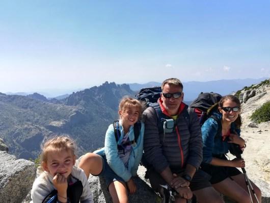 Alex, Christiane, Alyssia et Nora - Le GR en famille