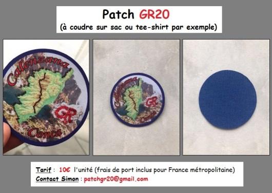 Patch GR20 à coudre