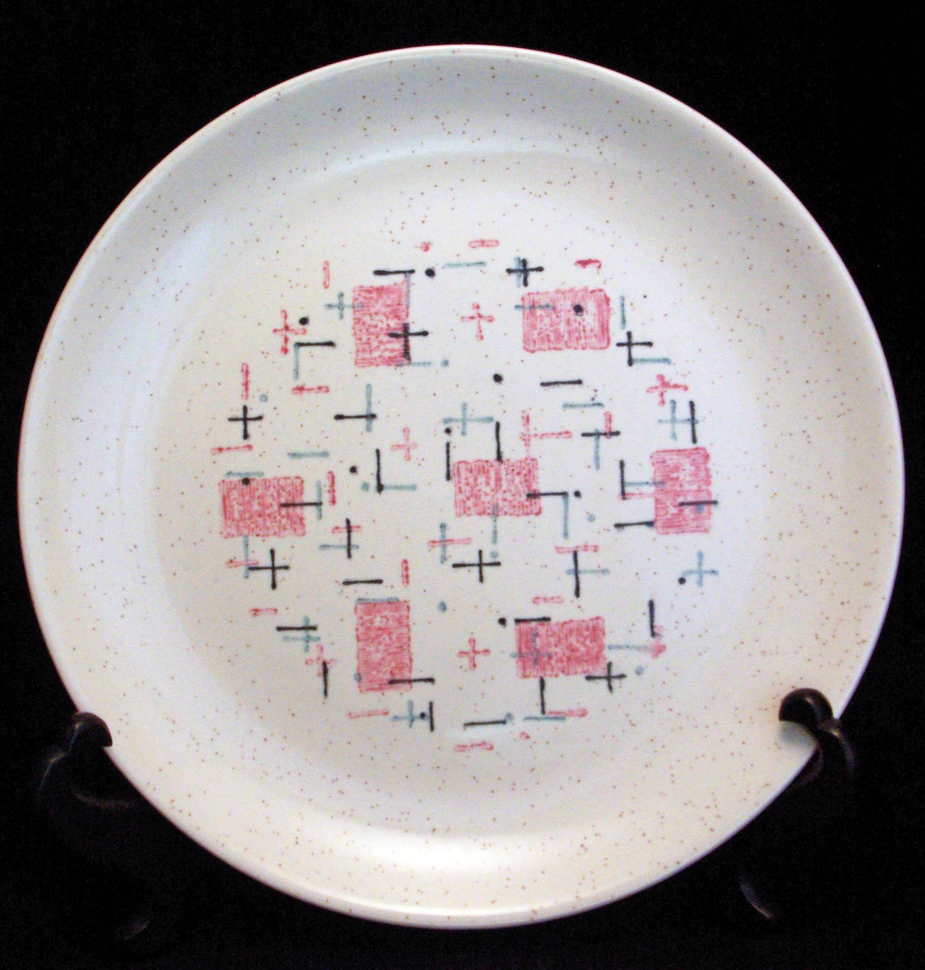 Vernon Ware Tickled Pink Dessert Plate