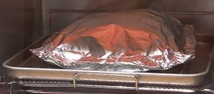 トースターでハンバーグ