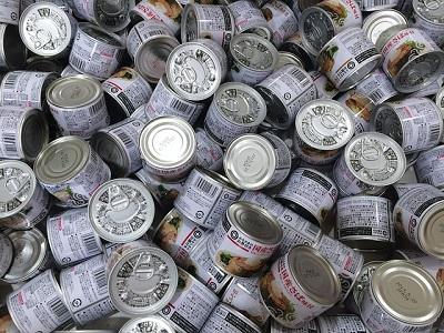 男子ごはん:変わり種缶詰3品!お好み焼き缶詰、缶バーグ、パエリア缶詰