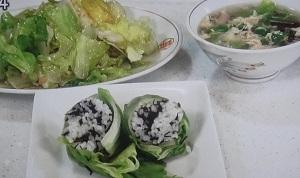 【あさイチ】レタスの時短レシピ!スープ&炒め&おにぎり
