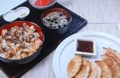 鶏のひつまぶし&揚げ餃子