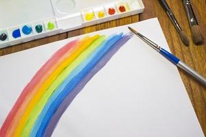 水彩画、絵、