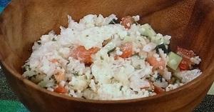 ひるまえほっと:志麻さんのお米のサラダのレシピ!