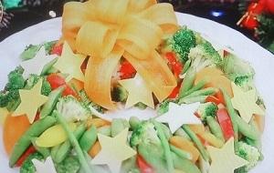 【有吉ゼミ】藤あや子のレシピ!ちらし寿司と野菜のクリスマスリース