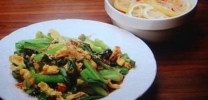 【きじまりゅうたの 小腹】小松菜とピーマンのみそ卵炒めのレシピ!