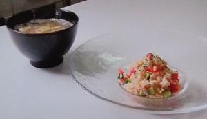 ZIP:日本一バズるリュウジさんの 朝ご飯のレシピ!さばのみそ汁&お米の冷製サラダ
