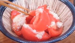 冷やしトマトの塩麹かけ