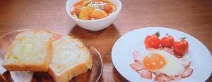 家事ヤロウ:和田明日香のベーコンエッグ&野菜スープのレシピ!王道の洋食朝食