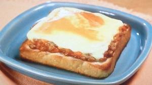 キムチ納豆チーズトースト