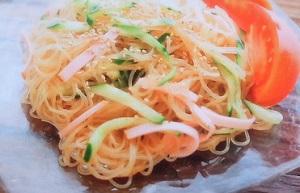 きょうの料理:栗原はるみさんの揚げ春雨のサラダのレシピ!