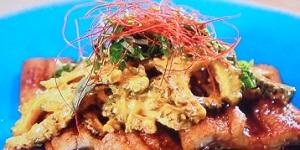 サタデープラス:ふっくらうなぎとゴーヤーの夏和えのレシピ!道乃先生の美肌メシ